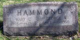 HAMMOND, MARY C. - Muskingum County, Ohio | MARY C. HAMMOND - Ohio Gravestone Photos