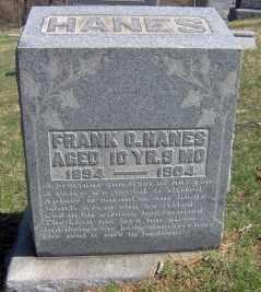 HANES, FRANK O - Muskingum County, Ohio | FRANK O HANES - Ohio Gravestone Photos