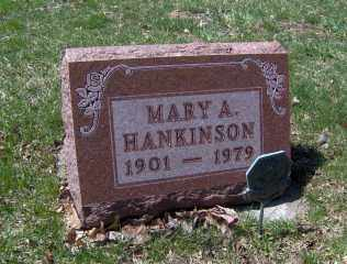 HANKINSON, MARY A - Muskingum County, Ohio | MARY A HANKINSON - Ohio Gravestone Photos