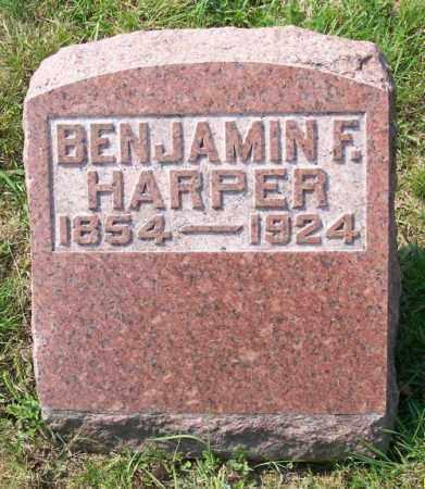 HARPER, BENJAMIN F. - Muskingum County, Ohio | BENJAMIN F. HARPER - Ohio Gravestone Photos
