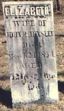 HILL HENSLEE, ELIZABETH - Muskingum County, Ohio | ELIZABETH HILL HENSLEE - Ohio Gravestone Photos