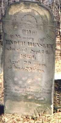 HENSLEE, ENOCH - Muskingum County, Ohio   ENOCH HENSLEE - Ohio Gravestone Photos