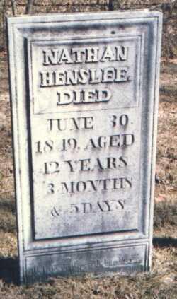 HENSLEE, NATHAN - Muskingum County, Ohio   NATHAN HENSLEE - Ohio Gravestone Photos
