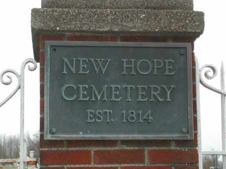 HEW HOPE, CEMETERY - Muskingum County, Ohio | CEMETERY HEW HOPE - Ohio Gravestone Photos