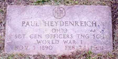 HEYDENREICH, PAUL - Muskingum County, Ohio | PAUL HEYDENREICH - Ohio Gravestone Photos
