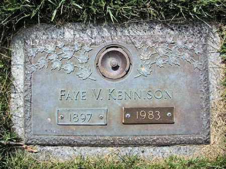 KENNISON, FAYE V. - Muskingum County, Ohio   FAYE V. KENNISON - Ohio Gravestone Photos