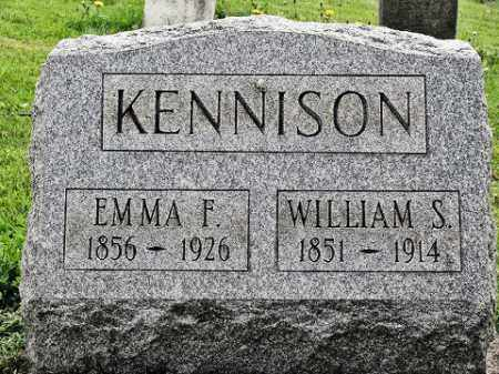 KENNISON, WILLIAM S - Muskingum County, Ohio | WILLIAM S KENNISON - Ohio Gravestone Photos