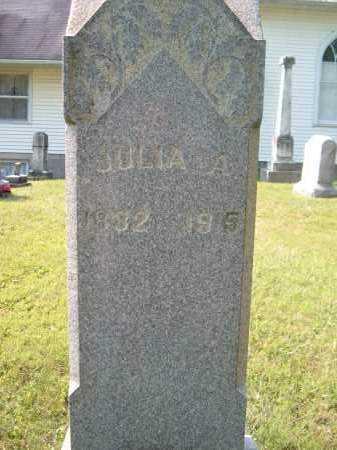 KING ?, JULIA A - Muskingum County, Ohio   JULIA A KING ? - Ohio Gravestone Photos