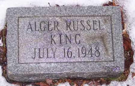 KING, ALGER RUSSEL - Muskingum County, Ohio   ALGER RUSSEL KING - Ohio Gravestone Photos