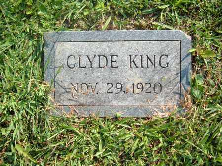 KING, CLYDE - Muskingum County, Ohio | CLYDE KING - Ohio Gravestone Photos