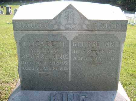 KING, ELIZABETH,WIFE OF GEORGE - Muskingum County, Ohio | ELIZABETH,WIFE OF GEORGE KING - Ohio Gravestone Photos