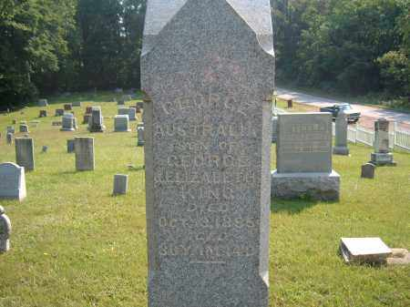 KING, GEORGE AUSTRALIA - Muskingum County, Ohio | GEORGE AUSTRALIA KING - Ohio Gravestone Photos