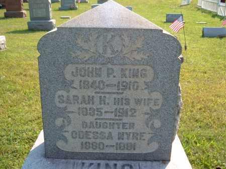 KING, SARAH H - Muskingum County, Ohio | SARAH H KING - Ohio Gravestone Photos