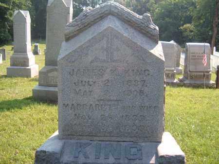 KING, MARGARETT-HIS WIFE - Muskingum County, Ohio | MARGARETT-HIS WIFE KING - Ohio Gravestone Photos