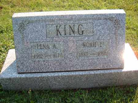 KING, NOHA E - Muskingum County, Ohio | NOHA E KING - Ohio Gravestone Photos