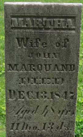 MARQUAND, MARTHA - Muskingum County, Ohio | MARTHA MARQUAND - Ohio Gravestone Photos