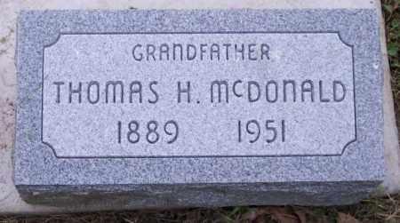 MCDONALD, THOMAS H. - Muskingum County, Ohio | THOMAS H. MCDONALD - Ohio Gravestone Photos