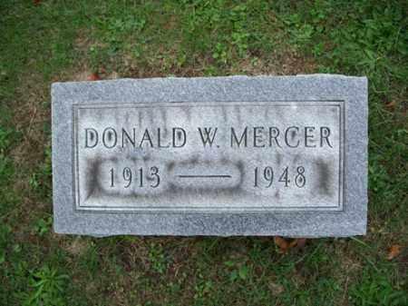 MERCER, DONALD W. - Muskingum County, Ohio | DONALD W. MERCER - Ohio Gravestone Photos
