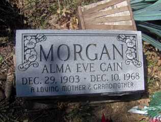 CAIN MORGAN, ALMA EVE - Muskingum County, Ohio | ALMA EVE CAIN MORGAN - Ohio Gravestone Photos