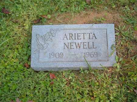 NEWELL, ARIETTA - Muskingum County, Ohio | ARIETTA NEWELL - Ohio Gravestone Photos