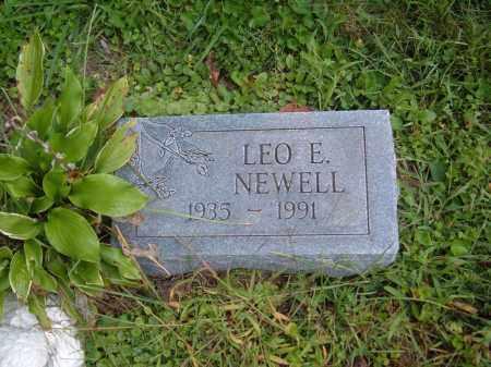 NEWELL, LEO E. - Muskingum County, Ohio   LEO E. NEWELL - Ohio Gravestone Photos