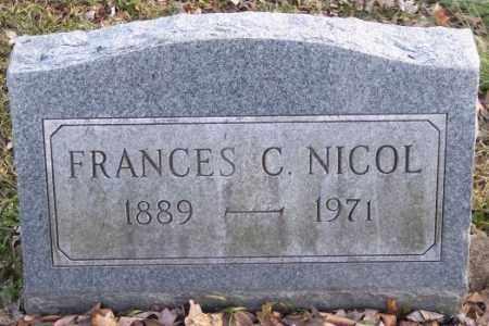 NICOL, FRANCES C. - Muskingum County, Ohio   FRANCES C. NICOL - Ohio Gravestone Photos
