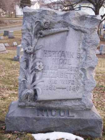 NICOL, ELIZABETH - Muskingum County, Ohio | ELIZABETH NICOL - Ohio Gravestone Photos