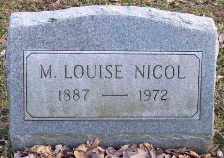 NICOL, M. LOUISE - Muskingum County, Ohio   M. LOUISE NICOL - Ohio Gravestone Photos
