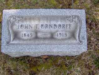 ORNDORFF, JOHN T - Muskingum County, Ohio   JOHN T ORNDORFF - Ohio Gravestone Photos