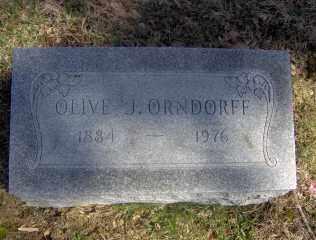 ORNDORFF, OLIVE J - Muskingum County, Ohio   OLIVE J ORNDORFF - Ohio Gravestone Photos