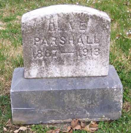 PARSHALL, OLIVE - Muskingum County, Ohio | OLIVE PARSHALL - Ohio Gravestone Photos