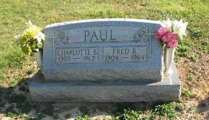 PAUL, FRED R - Muskingum County, Ohio | FRED R PAUL - Ohio Gravestone Photos