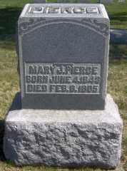PIERCE, MARY J - Muskingum County, Ohio   MARY J PIERCE - Ohio Gravestone Photos