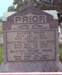 PRIOR, HESTER A. - Muskingum County, Ohio | HESTER A. PRIOR - Ohio Gravestone Photos