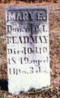 REDMAN, MARY E. - Muskingum County, Ohio | MARY E. REDMAN - Ohio Gravestone Photos