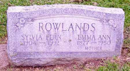 ROWLANDS, EMMA ANN - Muskingum County, Ohio | EMMA ANN ROWLANDS - Ohio Gravestone Photos