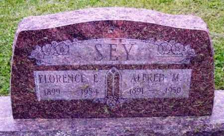 SEY, FLORENCE E. - Muskingum County, Ohio | FLORENCE E. SEY - Ohio Gravestone Photos