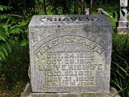 SHAVER, FREDERICK - Muskingum County, Ohio   FREDERICK SHAVER - Ohio Gravestone Photos