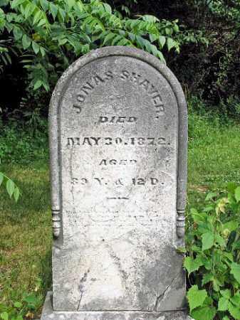 SHAVER, JONAS - Muskingum County, Ohio   JONAS SHAVER - Ohio Gravestone Photos