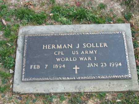 SOLLER, HERMAN J. - Muskingum County, Ohio | HERMAN J. SOLLER - Ohio Gravestone Photos