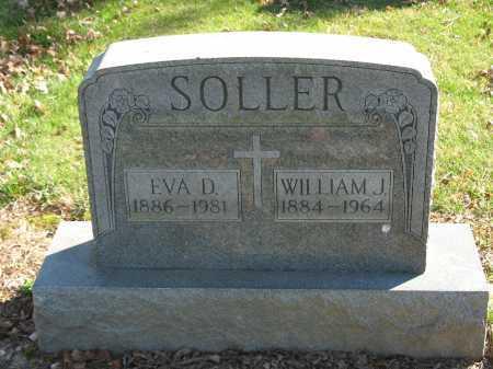 SOLLER, WILLIAM J. - Muskingum County, Ohio | WILLIAM J. SOLLER - Ohio Gravestone Photos