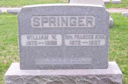 SPRINGER, REV. FRANCES KIRK - Muskingum County, Ohio | REV. FRANCES KIRK SPRINGER - Ohio Gravestone Photos