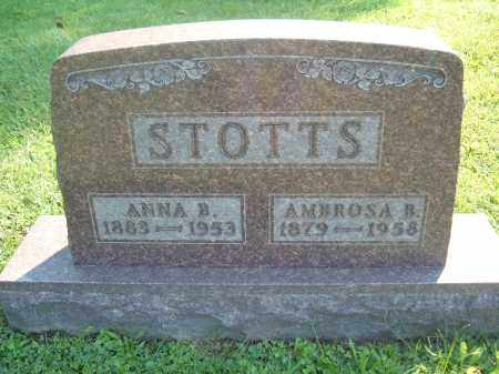 STOTTS, ANNA B - Muskingum County, Ohio | ANNA B STOTTS - Ohio Gravestone Photos