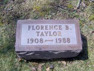 TAYLOR, FLORENCE B - Muskingum County, Ohio   FLORENCE B TAYLOR - Ohio Gravestone Photos