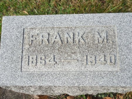 UNKNOWN, FRANK M - Muskingum County, Ohio | FRANK M UNKNOWN - Ohio Gravestone Photos