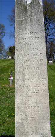 UNKNOWN, JULIA - Muskingum County, Ohio | JULIA UNKNOWN - Ohio Gravestone Photos