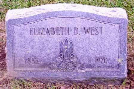 WEST, ELIZABETH D. - Muskingum County, Ohio   ELIZABETH D. WEST - Ohio Gravestone Photos