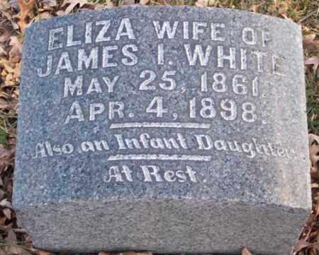 WHITE, ELIZA - Muskingum County, Ohio | ELIZA WHITE - Ohio Gravestone Photos