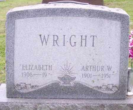 WRIGHT, ELIZABETH - Muskingum County, Ohio | ELIZABETH WRIGHT - Ohio Gravestone Photos
