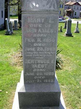 YAEST, MARY E. - Muskingum County, Ohio | MARY E. YAEST - Ohio Gravestone Photos